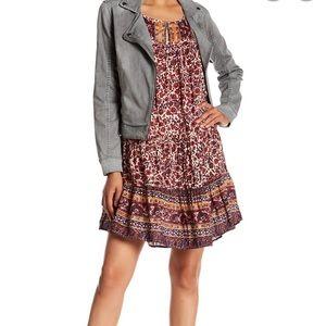Lucky Brand synthetic waist drop waist boho dress